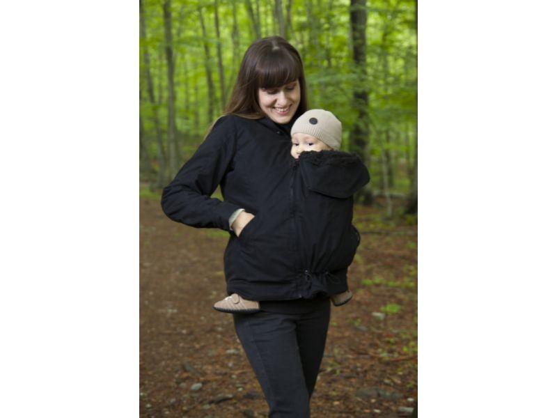 Abrigo de embarazo y porteo momawo lila el mundo de mapi for Abrigo embarazo y porteo